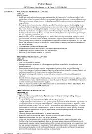 Professional Nurse Resume Sample Registered Australia Philippines