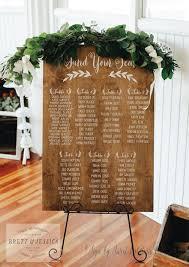 Rustic Seating Chart Seating Chart Wedding Seating Plan