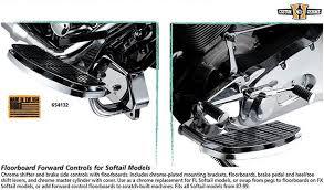 custom chrome floorboard forward controls for softail models