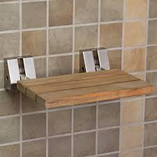 Small Bathroom Stools Teak Modern Folding Shower Seat I Love That You Can Flip It Down