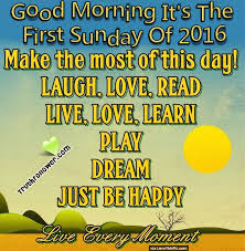 good morning its the first sunday of 2016
