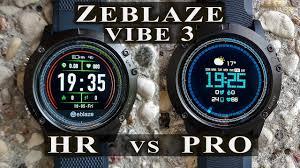 Zeblaze Vibe 3 HR vs <b>PRO Smart Sport</b> fitness watch review and ...