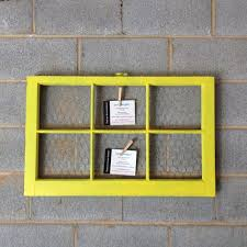 32x20 Frame Vintage Window Framed Message Board 32 X 20 Yellow