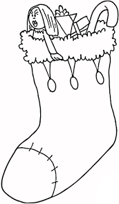 Stockings Lots Of Gifts Coloring Page