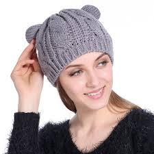 <b>DINGDNSHOW Brand Beanies Hat</b> Cotton Adult Cartoon Ear Winter ...