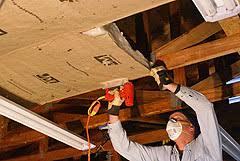 garage ceiling insulation. Fine Insulation Stapling Insulation To Garage Roof Trusses And Ceiling U
