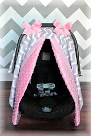 minky cat canopy car seat cover