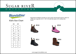 Blundstone Size Chart Sugar River Outfitters