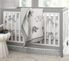 grey elephant crib sheet