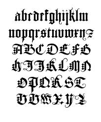 black letter font duerers fraktur blackletter gothic typeface von paulo heitlinger