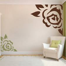 Small Picture Corner Rose Vinyl Wall Art Design Trendy Wall Designs
