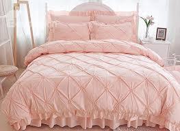 69 pinch pleat cotton princess style 4 piece pink duvet covers bedding sets