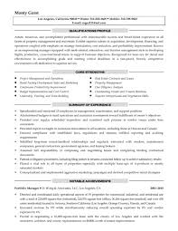 Residential Property Manager Resume Samples Best Sample Sample