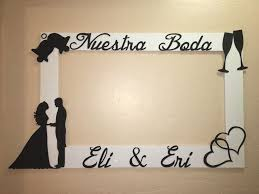 diy photo booth frame unique wedding nuestra boda engagement booth frame to take of diy photo
