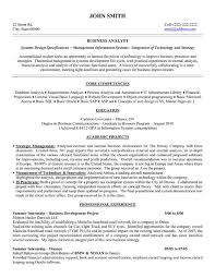 Entry Level Business Analyst Resume Sample Entry Level Business
