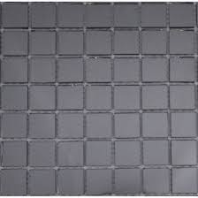 grey mirror 1 x 1 glass tile