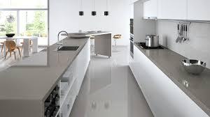 Splashback For White Kitchens Dark Benchtop And Light Grey Splashback Pinteres
