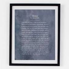 mirror by sylvia plath i love this poem ♥ poetry  poetry art sylvia plath mirror poem poetry by riverwaystudios