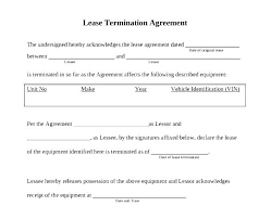 Lease Release Template Lease Agreement Image 1 Rental Termination Of