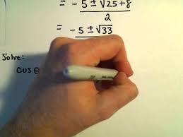 solving trigonometric equations using the quadratic formula example 2