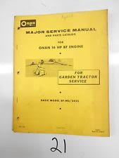 onan outdoor power equipment manuals guides onan 16 hp bf engine major service and parts manual garden tractor