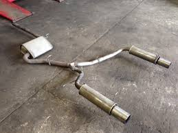 audi a4 b6 b7 cat back twin exhaust system powerflow