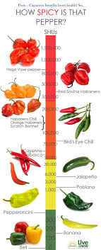 Pepper Level Chart Infographic Capsaicin Levels Of Peppers For Heart Health