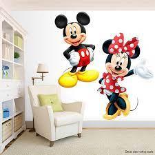 mickey minnie wall decal room decor