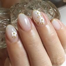 ホワイトグラデーション 美爪フラワーネイル ピンクネイルベージュ