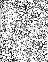 Floral Coloring Pages To Print Coloringstar