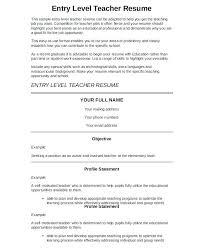 Sample Preschool Teacher Resume – Resume Web