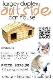 outdoor heated kitty house heated kitty house outdoor heated cat house large duplex outside cat house outdoor heated kitty