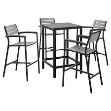 Maine 5pc Square Metal Patio Bar Set Modway Target