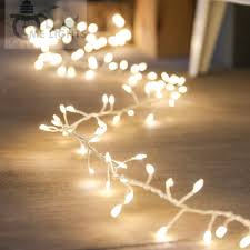 Outdoor Cluster Christmas Lights Led Cluster String Lights 10 Meters 300 Led Copper Fairy Party Lights Outdoor For Holiday Garland Bedroom Living Room Decoration