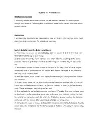 009 Sample Profile Essay Example Word Essays Classroom Study