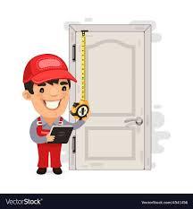 carpenter meres the old door vector image