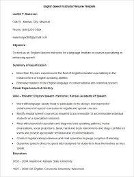Sample English Speech Instructor Resume Template , How to Make a Good  Teacher Resume Template ,