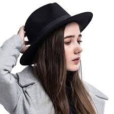 HH HOFNEN 100% Wool Fedora Hats For Women Vintage Wide Brim Mens Cap Top 10 In 2018 - The Best Hat
