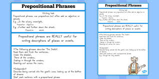Alliteration examples and samples for kids functions of a prepositional phrase. Prepositional Phrase Challenge Activity To Support Teaching On The Bfg