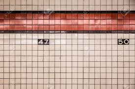 Subway wall tile Tile Design New York City Subway Wall Tiles Stock Photo 50875794 123rfcom New York City Subway Wall Tiles Stock Photo Picture And Royalty