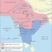 mughal empire 1526 1857 India Map Before 1600 india history map 1707 expansion under auragnzeb india map before 1600