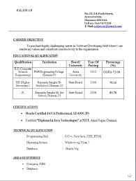 Resume Fresher Format Resume Template Easy Http Www