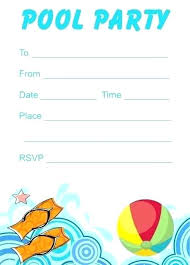 Free Blank Pool Party Invitations Sepulchered Com
