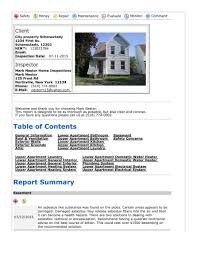 House Inspection Report Sample Home Template Free In Excel