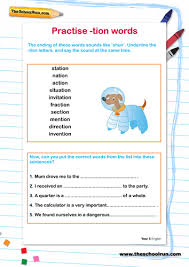 These th worksheets help improve literacy, phonics, spelling skills! Practise Tion Words Teaching Resources