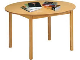 round library wood table