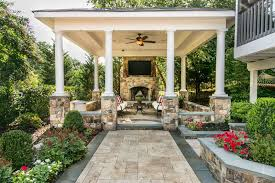 covered porch furniture. covered patio with pillars fireplace tv and seating in garden porch furniture