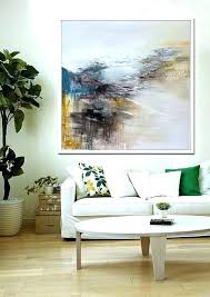 oil painting for living room hand made abstract art acrylic large canvas wall blue yellow black modern pictures