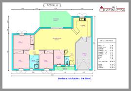 plan maison contemporaine plain pied plein pied chambres