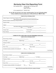 Employee Hire Forms New Hire Form Fill Online Printable Fillable Blank